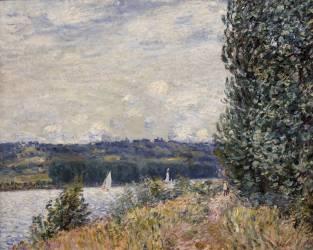 La Seine à la Bouille, coup de vent (Sisley Alfred) - Muzeo.com