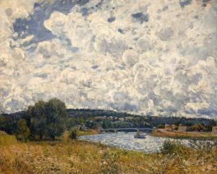 La Seine à Suresnes (Hauts-de-Seine) (Sisley Alfred) - Muzeo.com