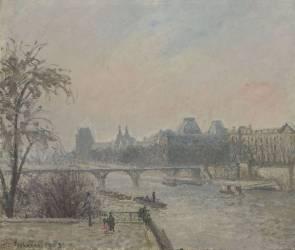 La Seine et le Louvre (Pissarro Camille) - Muzeo.com