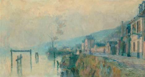 La Seine, un bac (Lebourg Albert) - Muzeo.com
