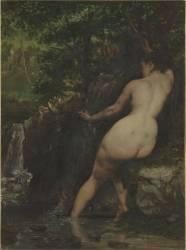 La Source dit aussi Baigneuse à la source (Gustave Courbet) - Muzeo.com