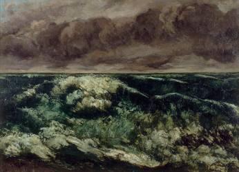 La Vague (Gustave Courbet) - Muzeo.com