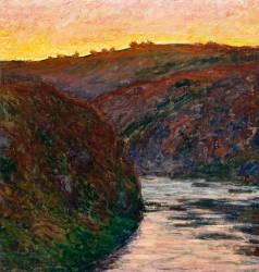 La Vallée de la Creuse, soleil couchant (Monet Claude) - Muzeo.com