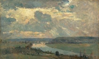 La vallée de la Seine près d'Oissel (Lebourg Albert) - Muzeo.com