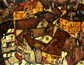 Krumau Town Cresent (Egon Schiele) - Muzeo.com