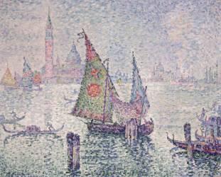 La voile verte, Venise (Signac Paul) - Muzeo.com