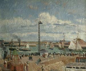 L'Anse des pilotes au Havre, haute mer après midi, soleil (Pissarro Camille) - Muzeo.com