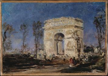 L'Arc de Triomphe de l'Etoile (Ziem Félix) - Muzeo.com