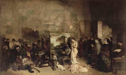 L'Atelier du peintre (Courbet Gustave) - Muzeo.com