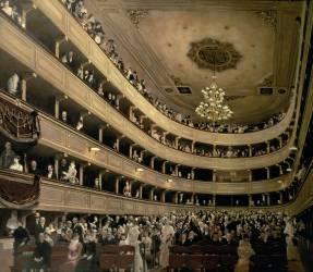 The auditorium of the Altes Burgtheater (Gustav Klimt) - Muzeo.com