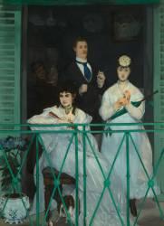 Le balcon (Manet Edouard) - Muzeo.com
