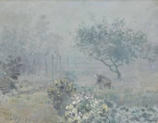 Le brouillard, Voisins (Sisley Alfred) - Muzeo.com