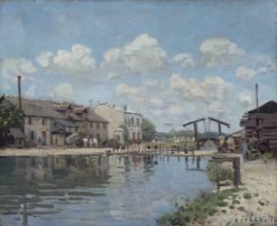 Le canal Saint-Martin, Paris (Sisley Alfred) - Muzeo.com