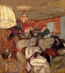 Le canapé - madame Hessel à Vaucresson, au Clos-Cézanne (Edouard Vuillard) - Muzeo.com