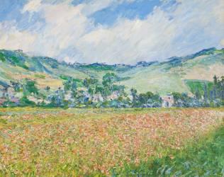 Le champ des coquelicots (environs de Giverny). (Monet Claude) - Muzeo.com