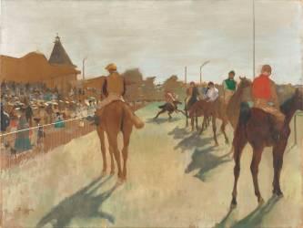 Le Défilé, dit aussi Chevaux de course devant les tribunes (Degas Edgar) - Muzeo.com