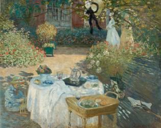 Luncheon in monet's garden at Argenteuil (Claude Monet) - Muzeo.com