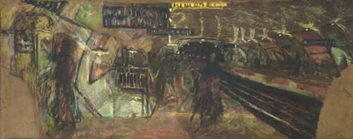 Le métro, la station Villiers (Vuillard Edouard) - Muzeo.com