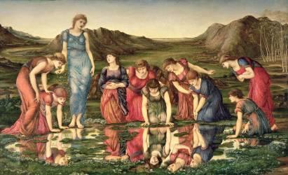 The Mirror of Venus (Burne-Jones Edward) - Muzeo.com