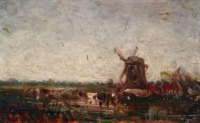 Le moulin (Ziem Félix) - Muzeo.com