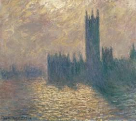 Le Parlement à Londres, ciel orageux (Claude Monet) - Muzeo.com