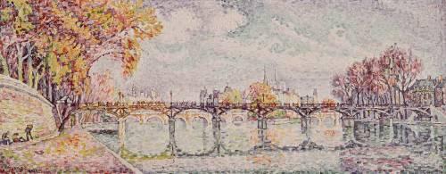 Le Pont des Arts (Paul Signac) - Muzeo.com