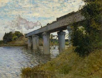 Le pont du chemin de fer à Argenteuil (Val d'Oise) (Monet Claude) - Muzeo.com