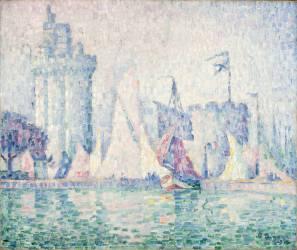 Le Port de la Rochelle (Signac Paul) - Muzeo.com