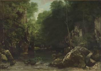Le ruisseau noir dit aussi Le ruisseau du puits noir (Courbet Gustave) - Muzeo.com