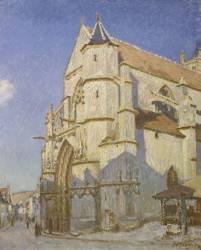 L'Eglise de Moret (Le soir) (Sisley Alfred) - Muzeo.com