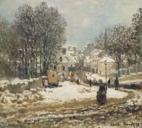 L'entrée de la Grande-Rue à Argenteuil, l'hiver (Monet Claude) - Muzeo.com