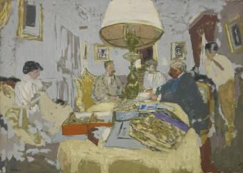 Les Amis autour de la table, Saint-Jacut (Vuillard Edouard) - Muzeo.com