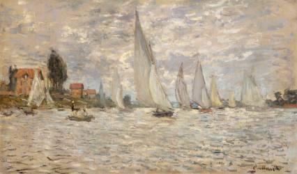 Les Barques. Régates à Argenteuil (Monet Claude) - Muzeo.com
