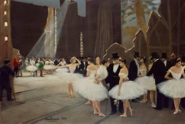 Les coulisses de l'opéra (Béraud Jean) - Muzeo.com