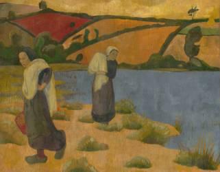 Les laveuses à la Laïta, près du Pouldu (Serusier Paul) - Muzeo.com