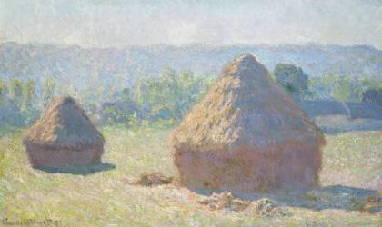 Les meules; fin de l'été, Giverny (Claude Monet) - Muzeo.com
