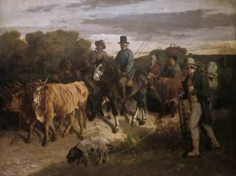 Les paysans de Flagey revenant de la foire (Gustave Courbet) - Muzeo.com
