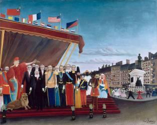 Les représentants des puissances étrangères venant saluer la République en signe de paix (Le Douanier Rousseau) - Muzeo.com