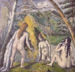 Les trois baigneuses (Paul Cézanne) - Muzeo.com