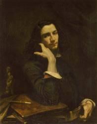 L'homme à la ceinture de cuir, portrait de l'artiste (Gustave Courbet) - Muzeo.com