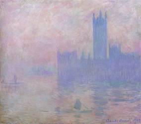 Londres, le Parlement, les tours de Westminter (Claude Monet) - Muzeo.com