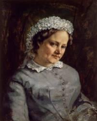 Madame Proudhon, femme du philosophe Pierre-Joseph Proudhon (Gustave Courbet) - Muzeo.com