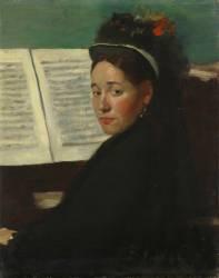 Mademoiselle Dihau au piano (Degas Edgar) - Muzeo.com