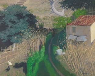 Maison et roseaux (Vallotton Félix) - Muzeo.com
