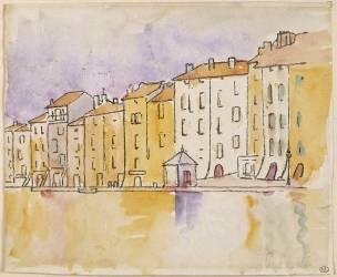 Maisons ensoleillées au bord de l'eau, à Saint Tropez (Signac Paul) - Muzeo.com