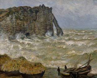 Mer agitée à Etretat (Monet Claude) - Muzeo.com