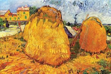 Haystacks in Provence (Van Gogh Vincent) - Muzeo.com