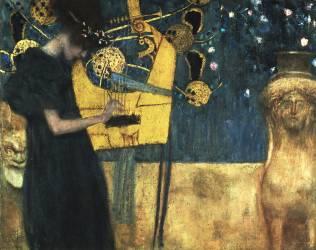 Music (die music) (Klimt Gustav) - Muzeo.com