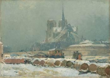Notre-Dame de Paris par temps de neige (Lebourg Albert) - Muzeo.com