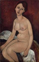 Nu assis (Amedeo Modigliani) - Muzeo.com